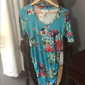 Motherhood Maternity Side Ruched Dress. Size M